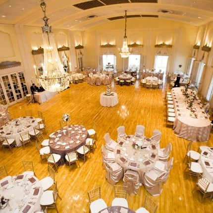 Lafayette Club Wedding Reception With Cream And Plum Table Linens Chevari Chairs