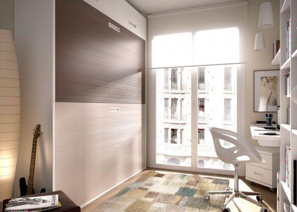 Dormitorio Infantil Con Litera Abatible Horizontal Elmenut Hab