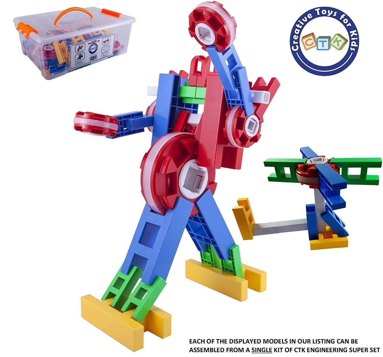 CTK Engineer Building Set–Fun STEM Toys for 3 to 9 year old Boys
