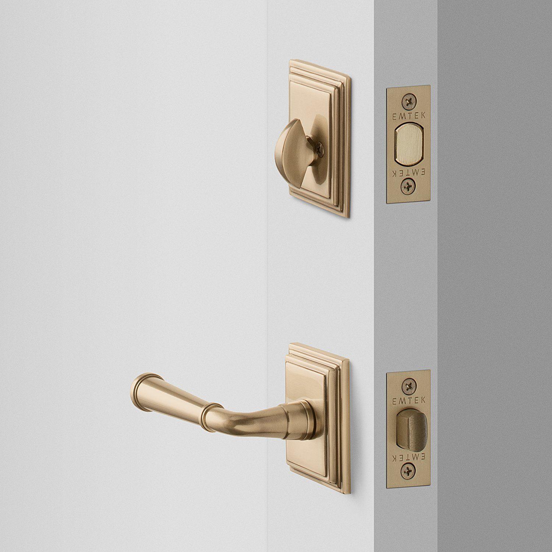Easton Door Set With Abbott Lever Deadbolt Antique Brass In 2020 Door Sets Front Door Hardware Doors