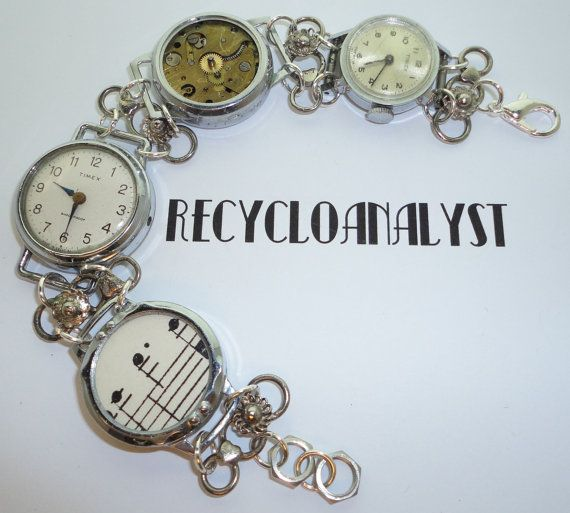 Steampunk Industrial Chic Recycled Vintage by Recycloanalyst, $38.00