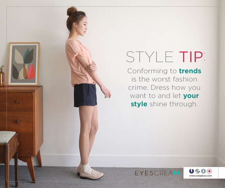 Here's a fashion tip we all can use this Saturday.  For our latest collection, visit: http://goo.gl/7ZMogh  **For inquiries and orders, message us or send an SMS to 09284475784 #WearUSO
