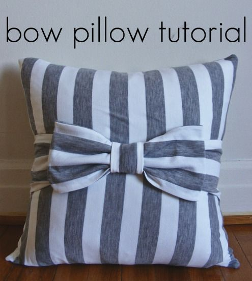 Bow pillow tutorial!