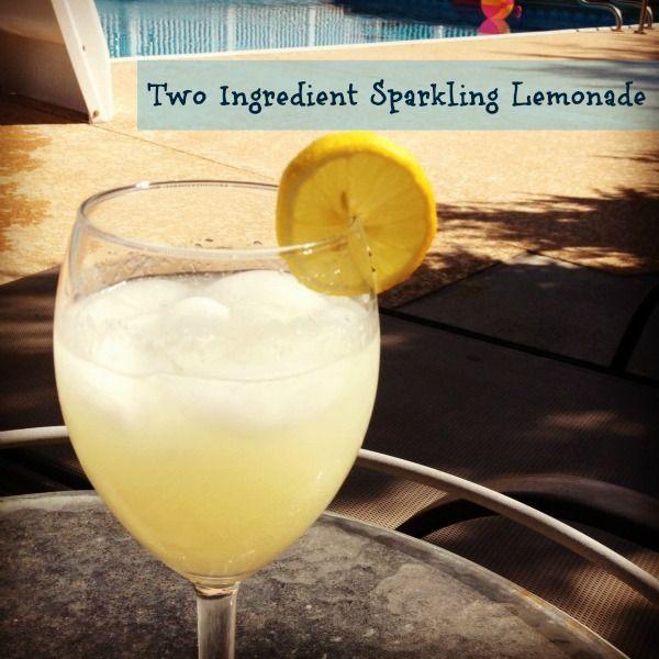2 Ingredient Sparkling Lemonade #sparklinglemonade