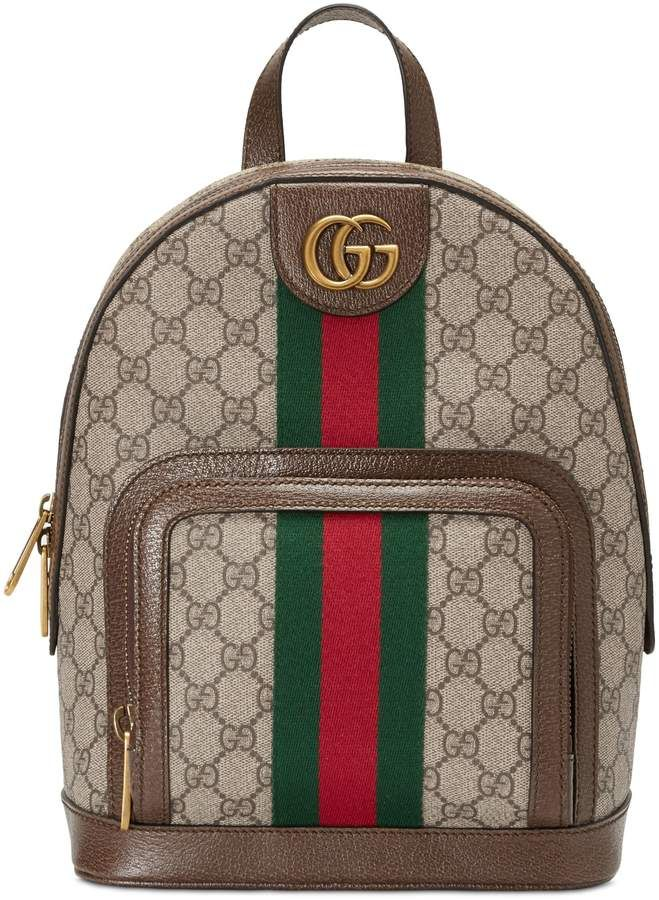 ceaca4c3a37 Gucci Small Ophidia GG Supreme Canvas Backpack in 2019