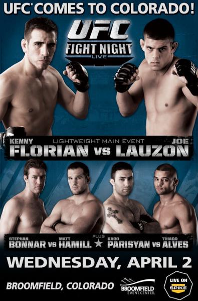 Ufc Fight Night 13 Florian Vs Lauzon Fight Night Ufc Fight Night Ufc Events