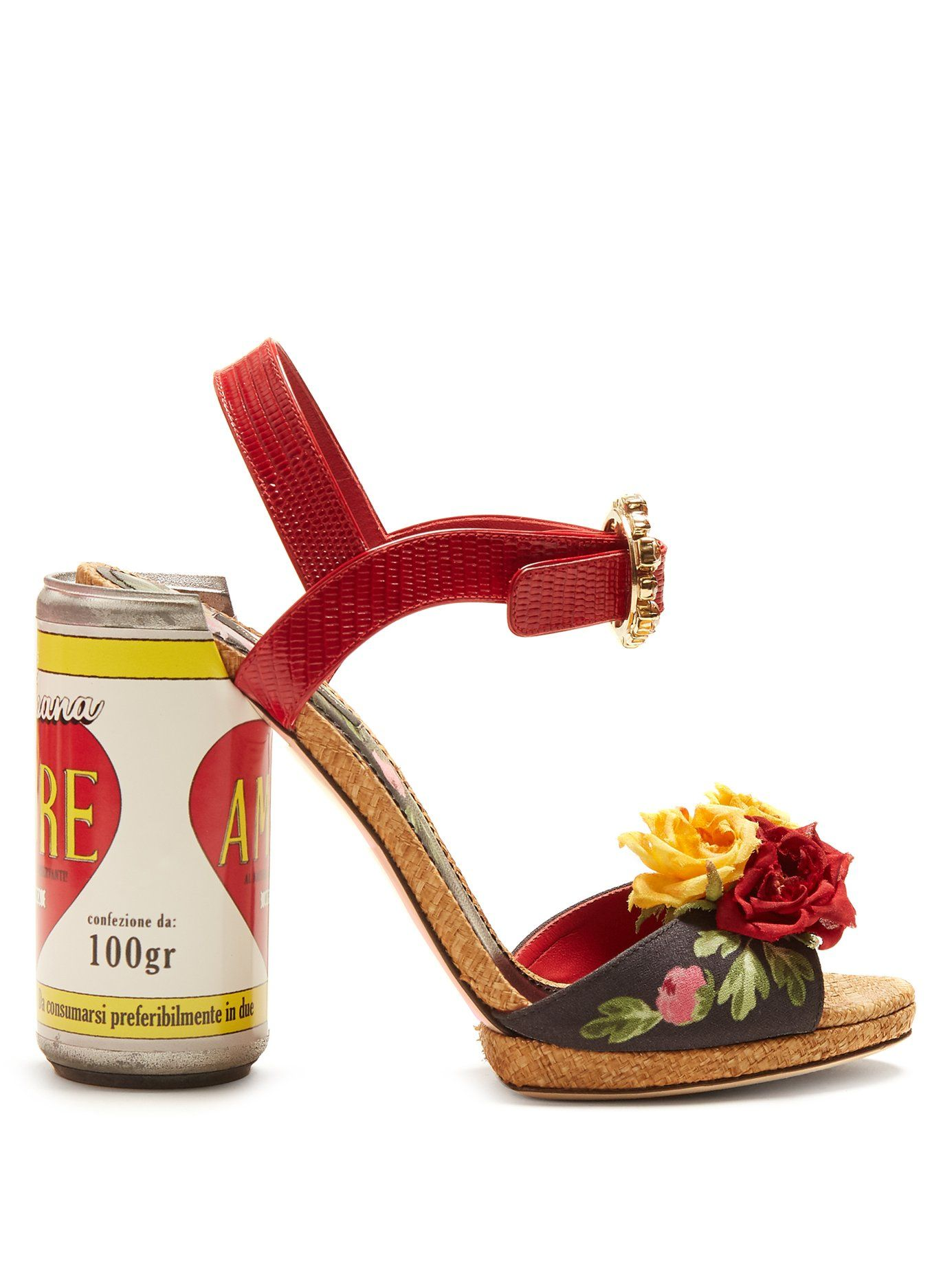 cdee4ae0f Dolce   Gabbana Amore floral-embellished sandals