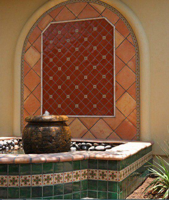 Idées pour créer votre fontaine de jardin moderne.   Spanish style ...