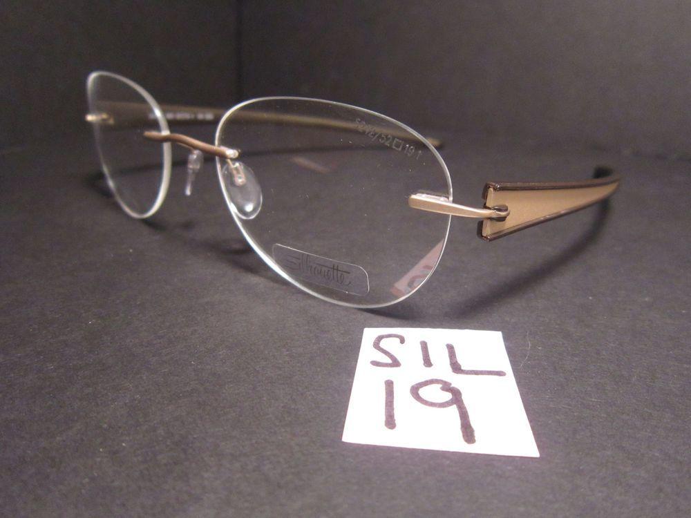 New SILHOUETTE Rimless Eyeglass Frame #5242 20 6051 (SIL-19)