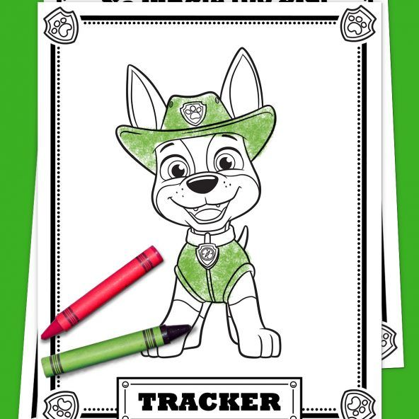 PAW Patrol Tracker Coloring Pack - Paw patrol birthday, Paw patrol party, Paw patrol, Paw patrol birthday party, Paw patrol tracker, Paw patrol coloring - 16  Print a threepage pack of coloring
