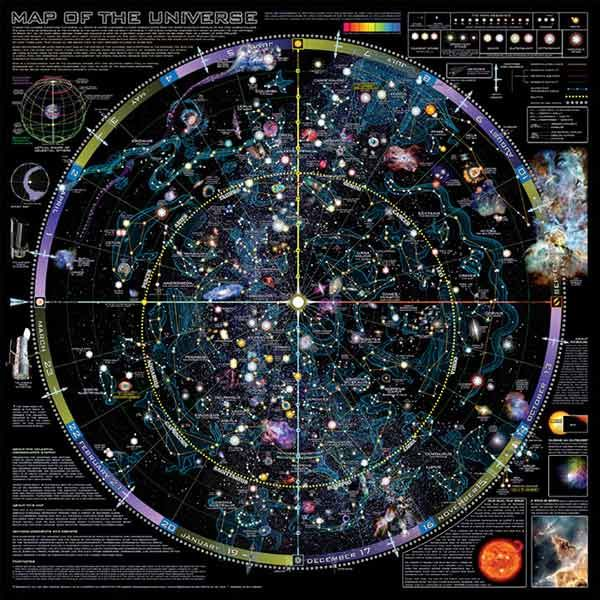 Map Of The Universe By Spaceshots  Star Chart Poster  Charts