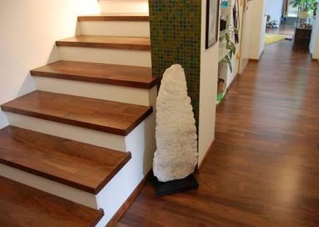 Resultado de imagen para huellas de escalera de madera Sala de