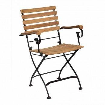 Siena Garden Peru Ll Biergartensessel Stahl Teak Sitzplatz