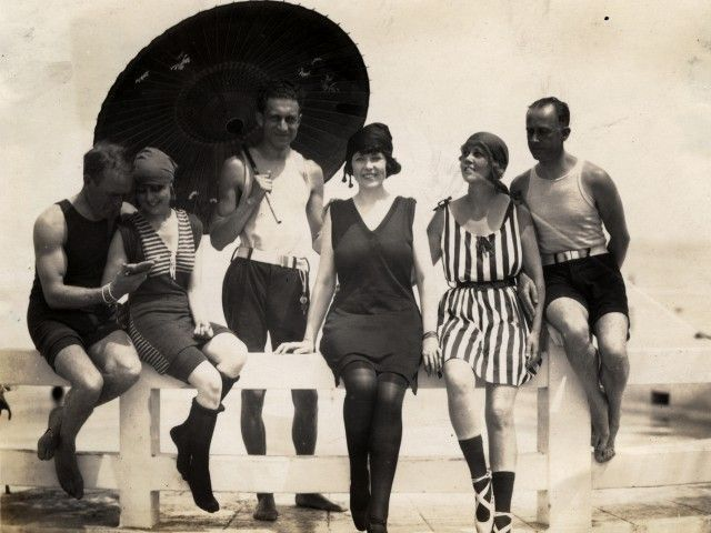 1920's bathing family - Google Search