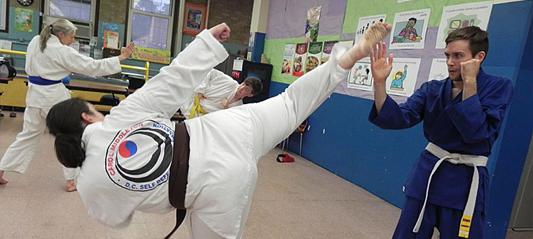The classes for Teens and Adults offered at DC Self Defense Karate Association utilize a top level team of instructors, who prepared curricula under t