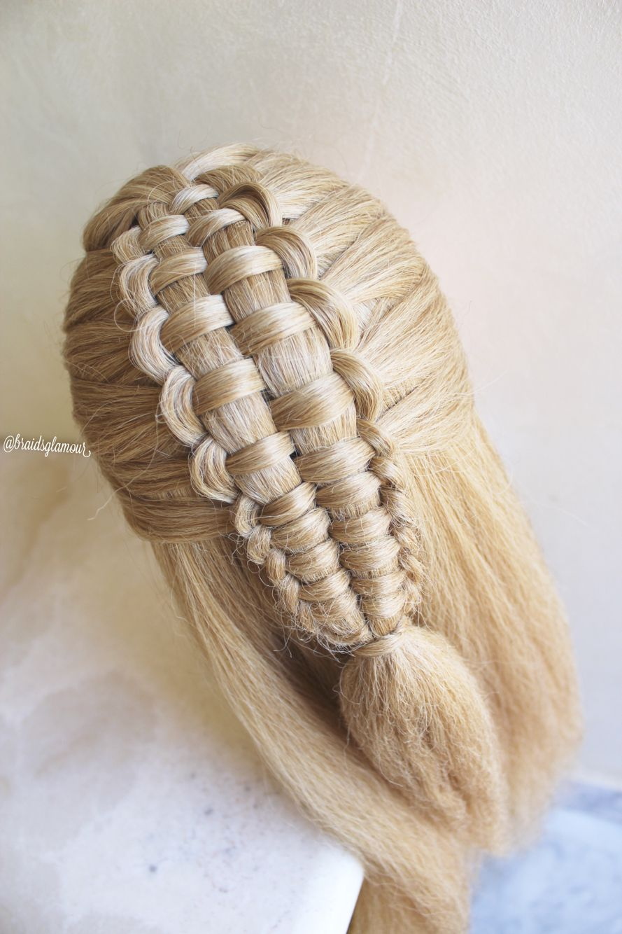 Simple zipper braid