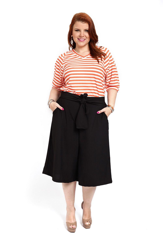 1949dd4e8 image Saias Para Gordinhas, Roupas Para Gordinhas, Bermuda Pantalona, Calça  Pantacourt Plus Size