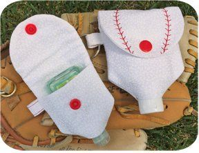 In The Hoop Baseball Hand Sanitizer Holders Embroidery Garden
