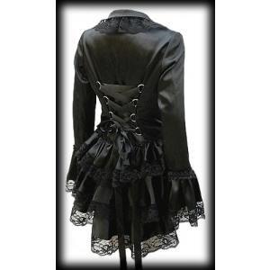 plus size black satin gothic burlesque corset bustle