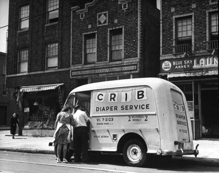 A vendor providing diaper service. Photograph by Ed Clark