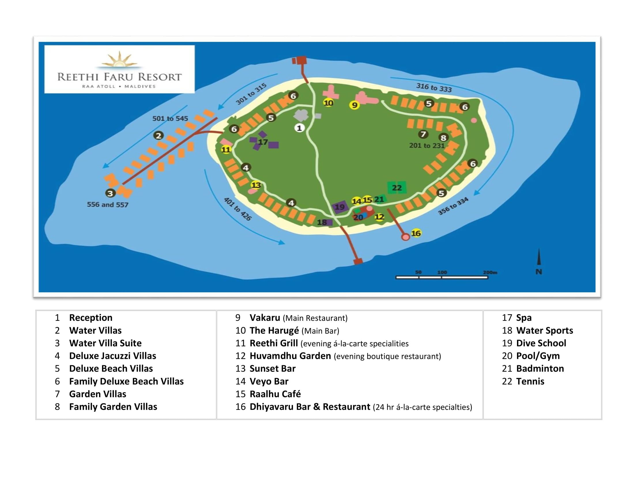 Reethi Faru Resort Island Map Maldives Honeymoon Water
