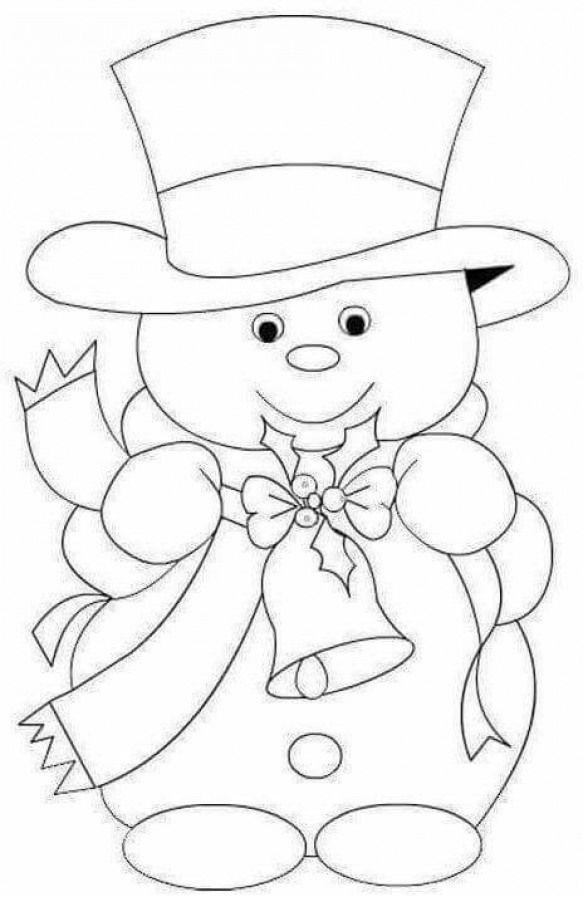 snowman  christmas coloringembroideryapplique
