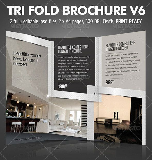 Trifold Brochure V  Graphic Design    Brochures