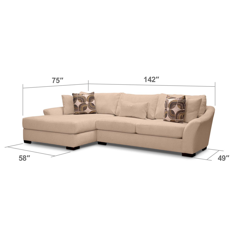 $1,300 - Oasis II 2 Pc. Sectional | Value City Furniture | Sofa ...