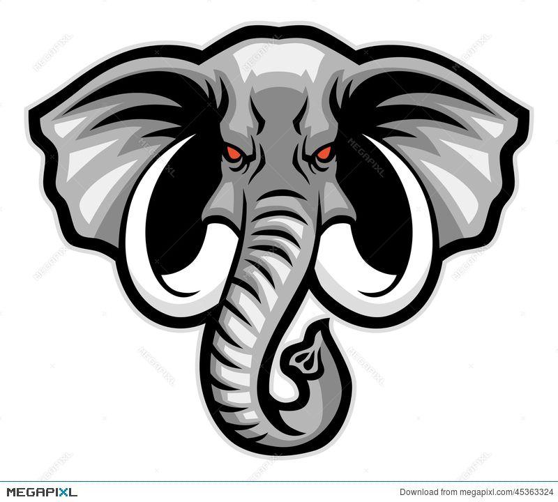 Image Result For Elephant Head Mascot Gajah Logo Hewan Seni Horor