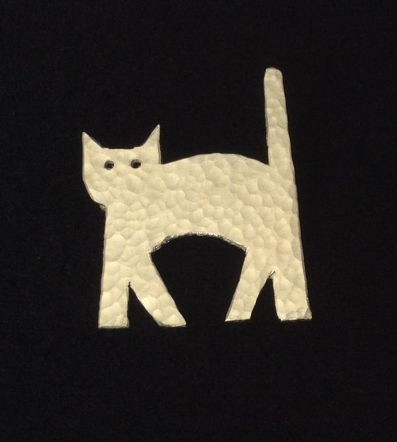 Image of Halloween Cat Brooch or Pendant.