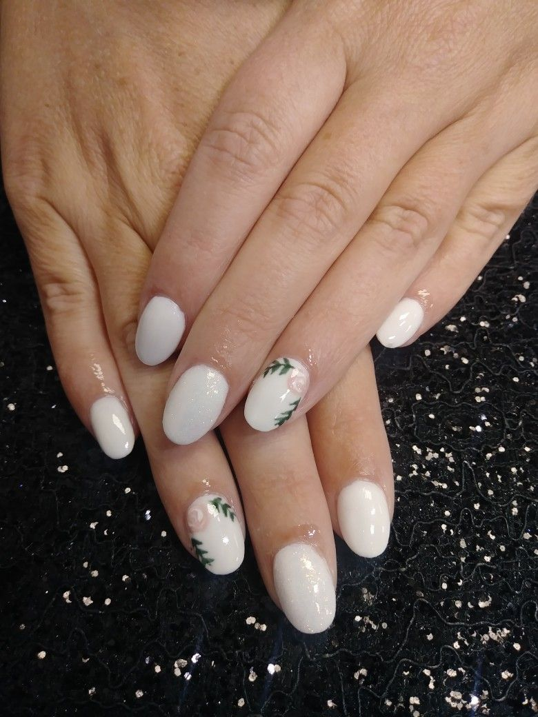 Cute Nails White Nails Short Nails Dip Powder Nails By Me Rockstar Nails Nails Dip Powder Nails White Nails