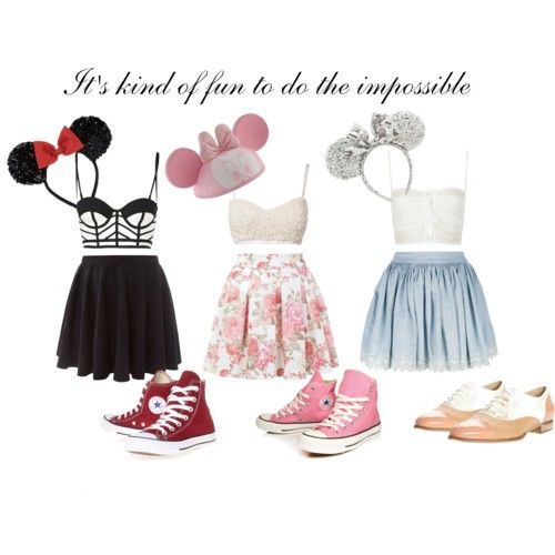 Made this on polyvore! Minnie Mouse inspired Disneyland ...