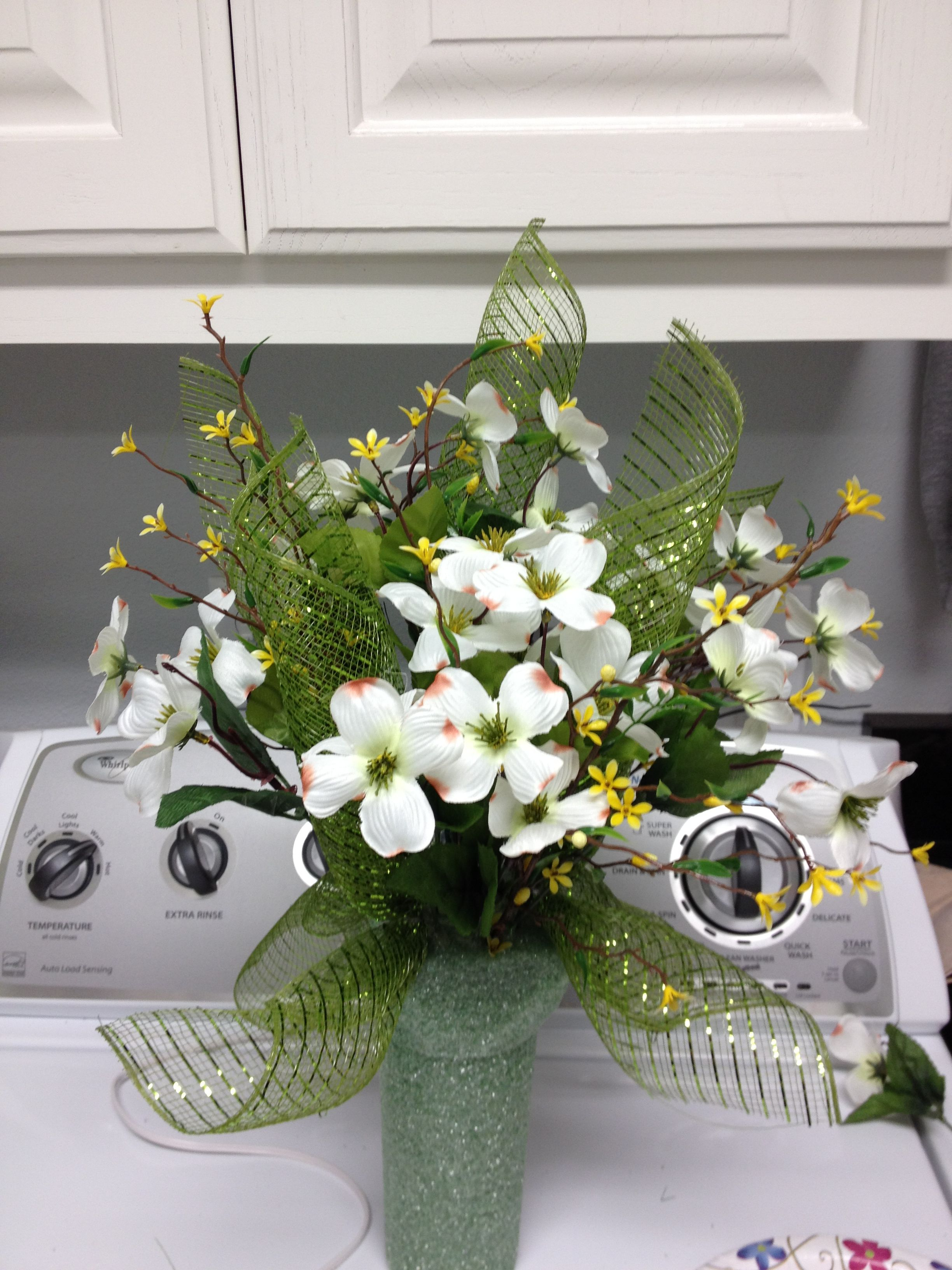 rustic pin cotton christmas stems vase floral antlers deer flower arrangement cemetery vases with poinsettias and