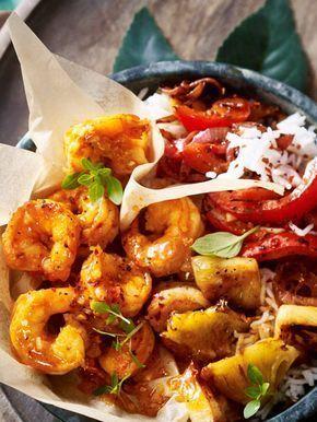 Knoblauchgarnelen-Bowl #garlicshrimprecipes