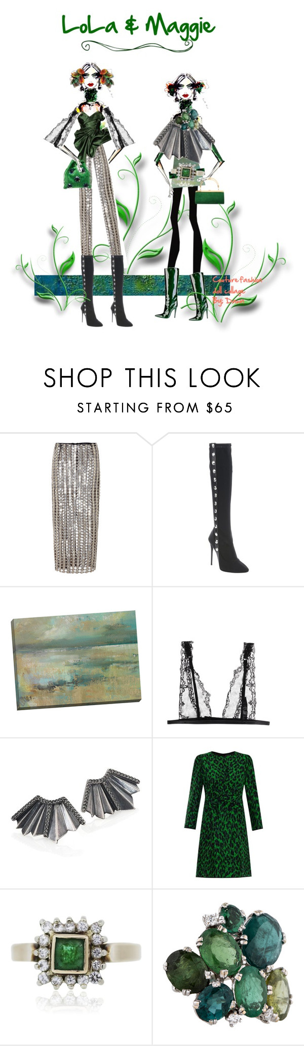 """""""LoLa & Maggie"""" by dawn-lindenberg ❤ liked on Polyvore featuring Wes Gordon, Giuseppe Zanotti, Guy Laroche, La Perla, Giles & Brother, Marc Jacobs, Miu Miu, women's clothing, women and female"""