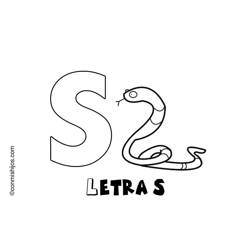 Imprimir Letra S Dibujos Para Colorear Letra S Dibujos Para Colorear Letras