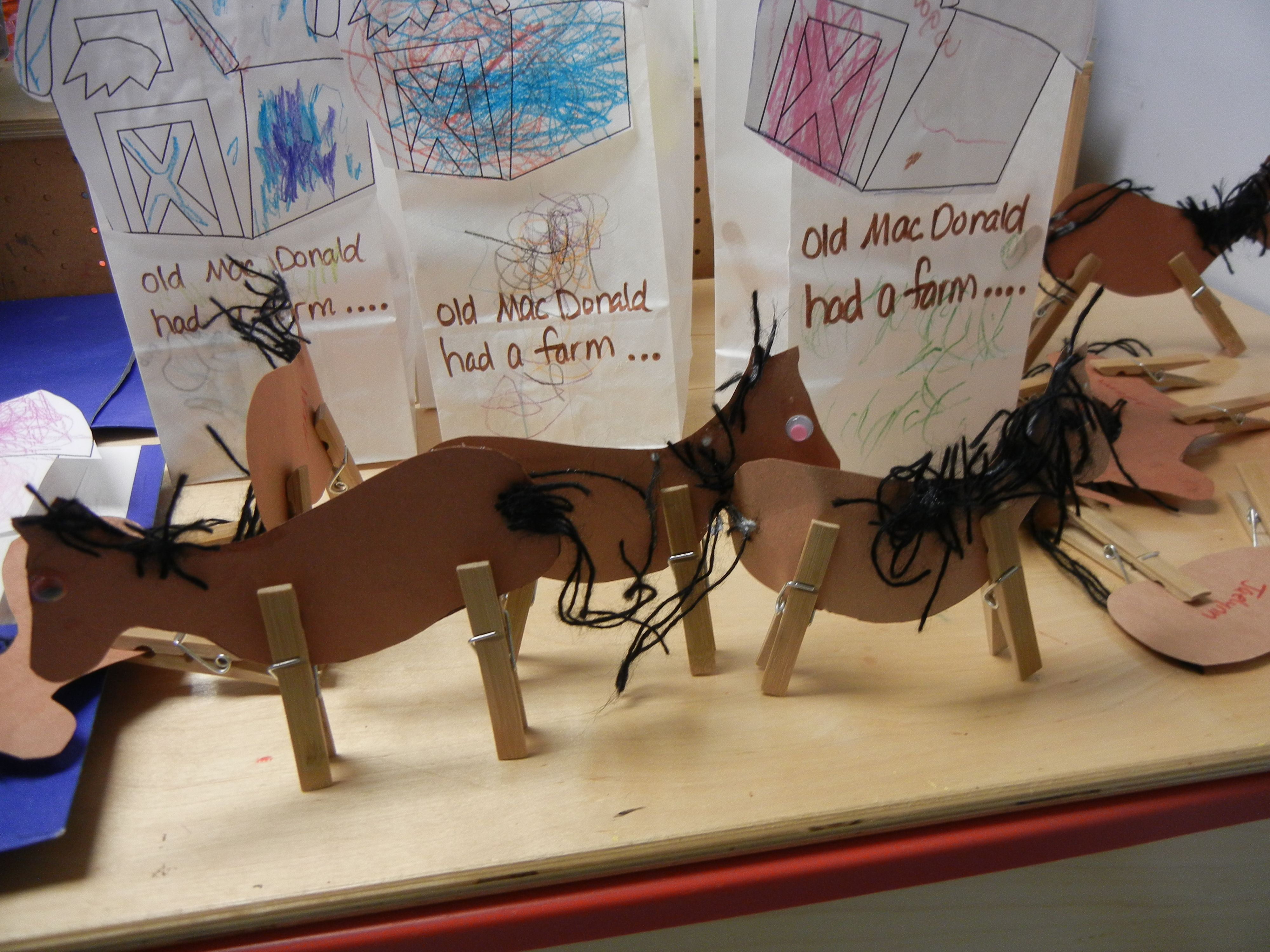 Clothespin Horse Our Class Made Per Easy For Preschoolers