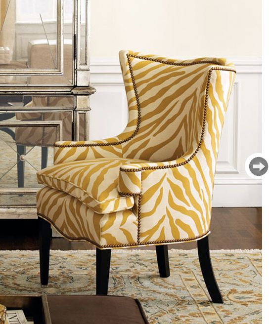 design lesson  zebra chair traditional chairs living