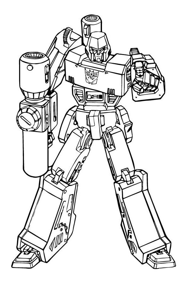 Megatron Transformers Coloring Page Transformers Coloring