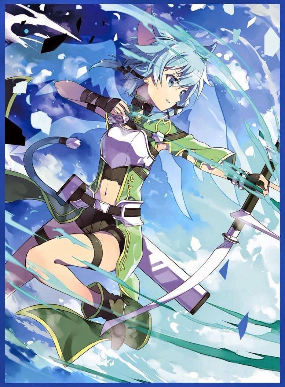 Sword Art Online Sinon Arte De Anime Fondo De Anime Arte Anime