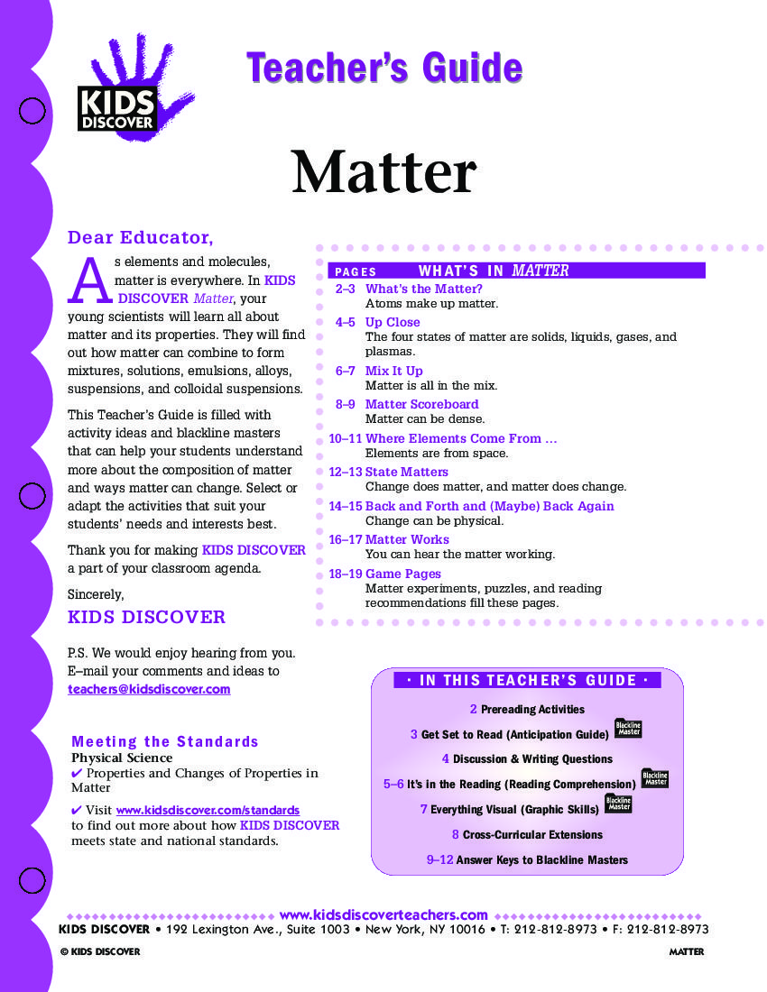 worksheet States Of Matter Worksheet For Kindergarten this free lesson plan for kids discover matter is packed with activities and assessments that will