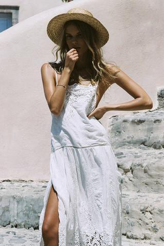 7abd515de975 Alena Blohm wears Spell Designs Magnolia Sundress