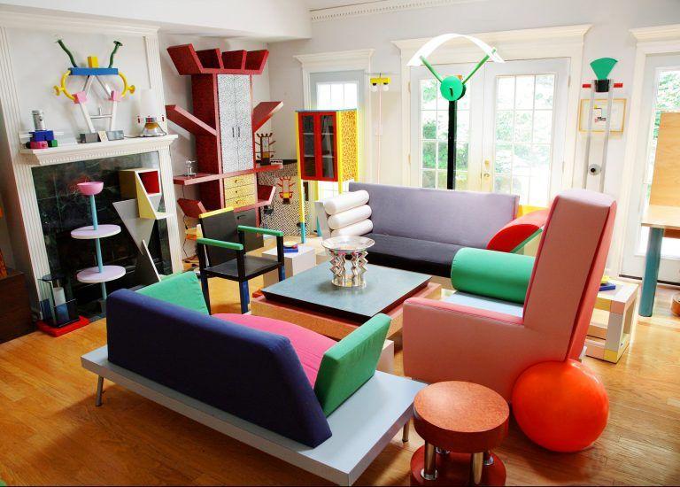 tendance memphis design décoration intérieur coloré histoire | stand ...