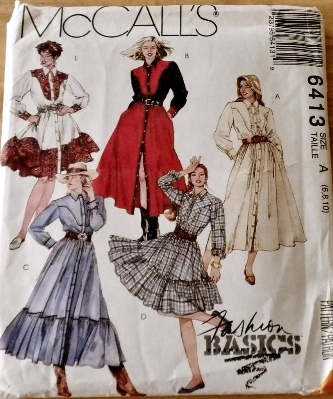 8bda8ac05d31f Misses Western Skirts   Shirts Sewing Pattern McCalls 6413 Design your own  Western Outfit or Square Dance Dress for any occasion with this pattern!