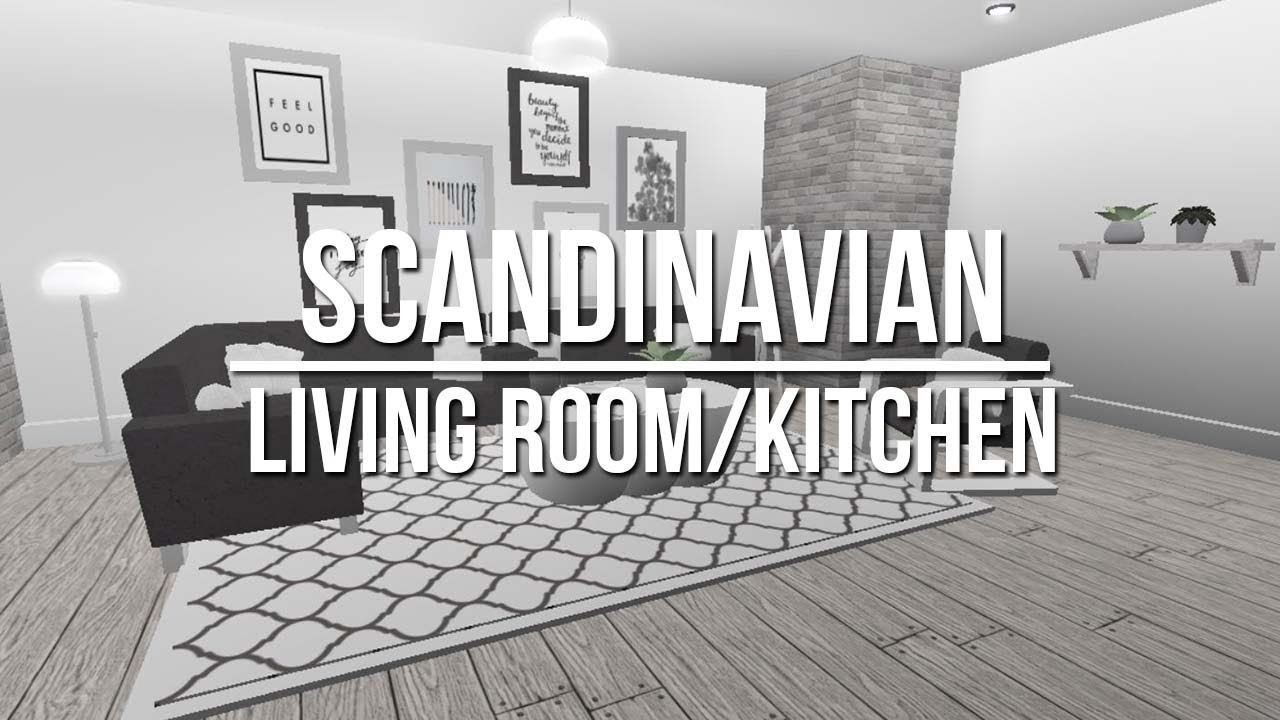 Roblox Welcome To Bloxburg Scandinavian Living Room Kitchen
