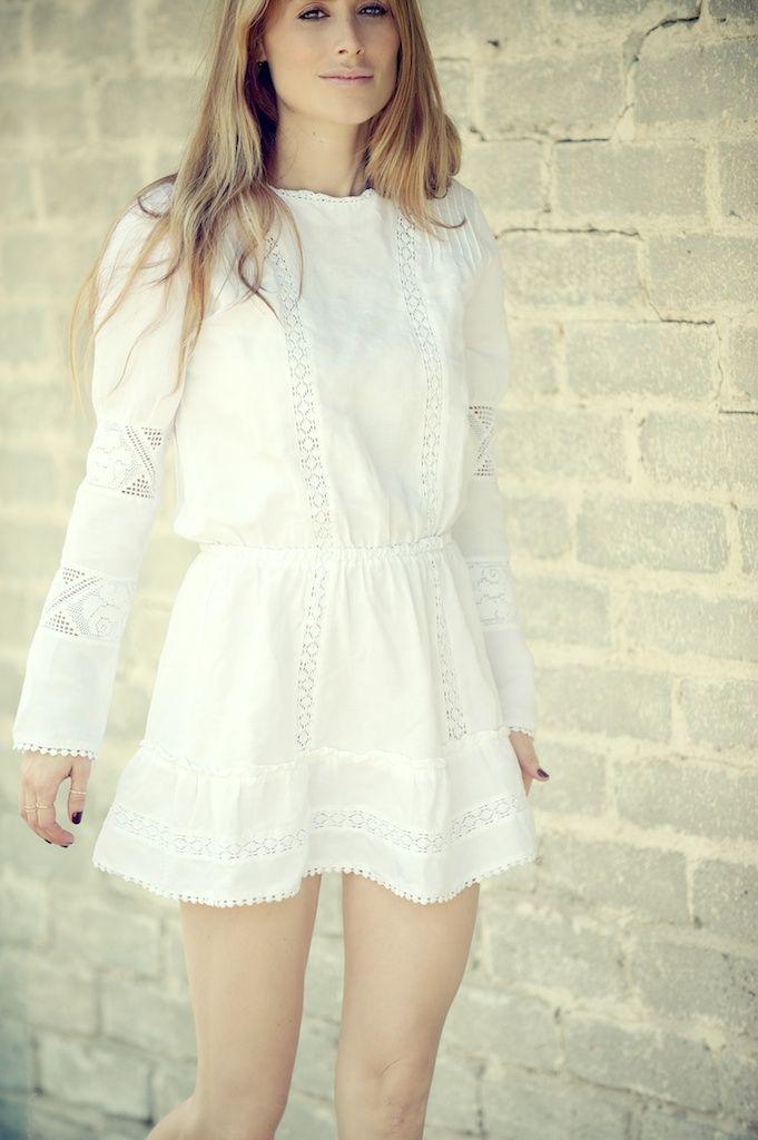 Anine bing white dress