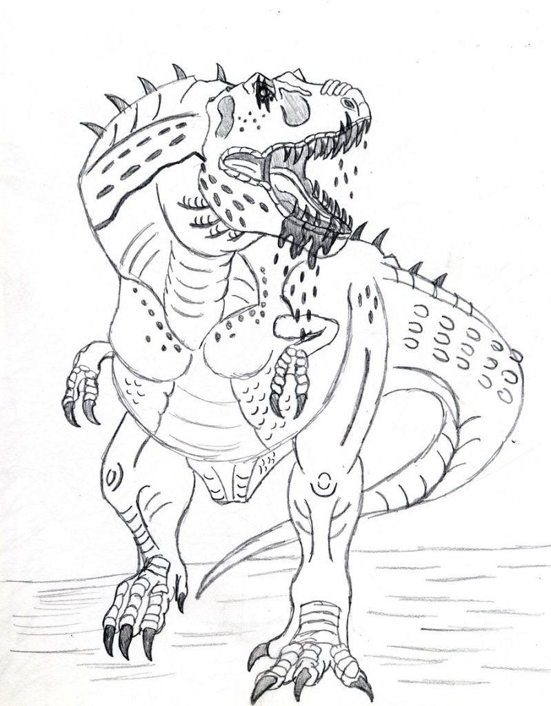 Ausmalbilder Dinosaurier T-rex : Charmant Realistische T Rex Malvorlagen Zeitgen Ssisch Beispiel