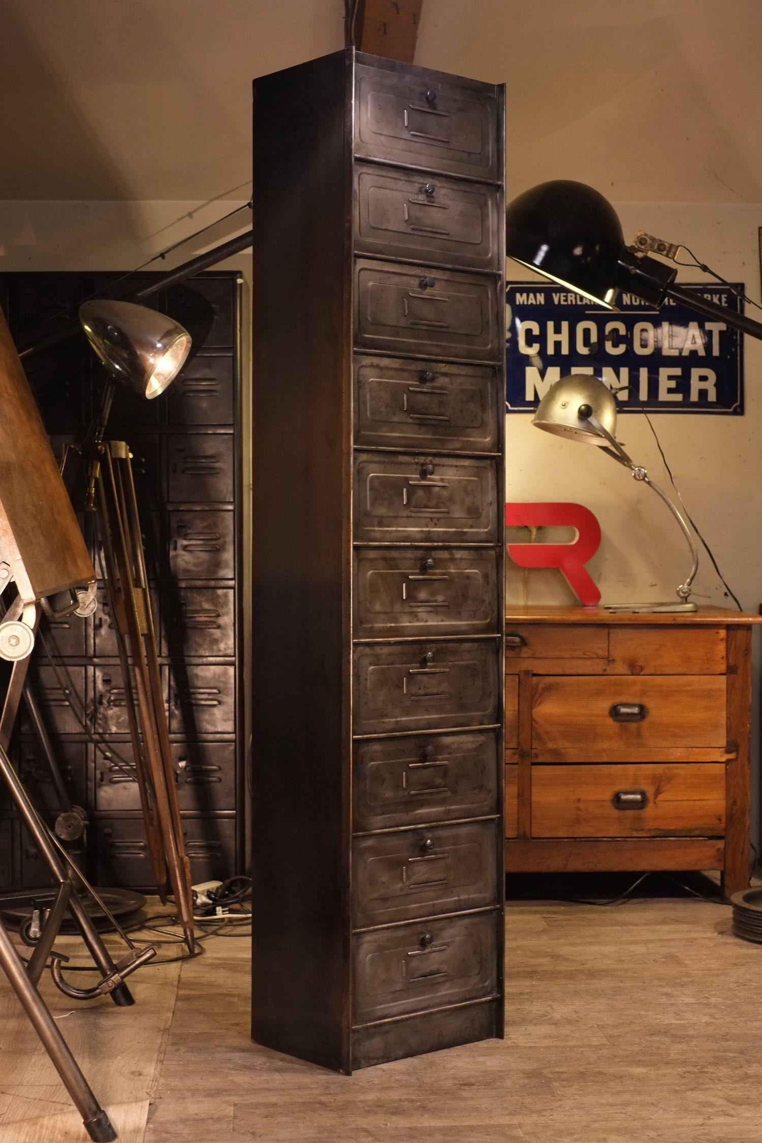 1500 Meuble Industriel Ancien A Clapet5 Jpg 1 500 2 250 Pixels Locker Storage Decor Home Decor