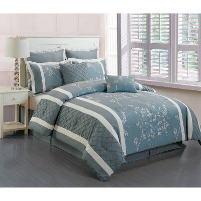 Riverbank M/F 8 Piece Comforter Set by Duck River Textile Light Blue - RIVERBANK 4628=1