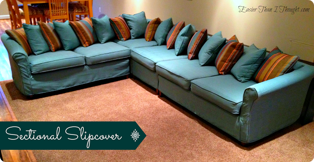 Easier Than I Thought sectional slipcover after : sectional covers slipcovers - Sectionals, Sofas & Couches
